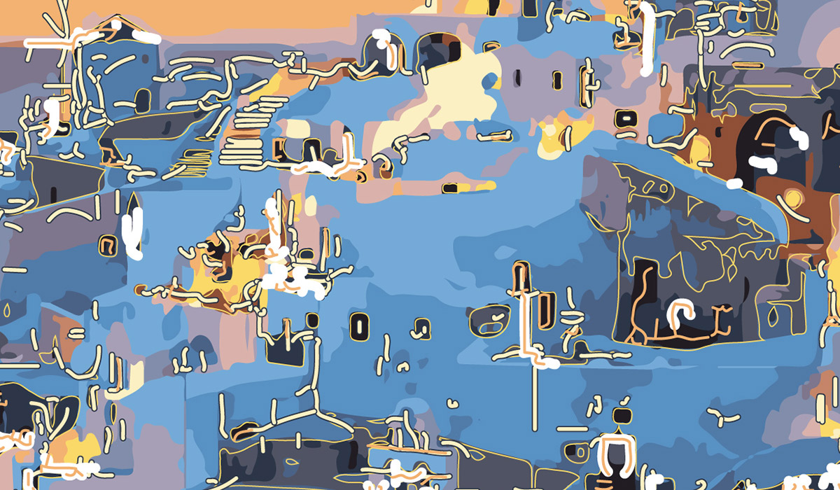 Abstractified Santorini