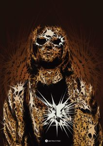 Abstractified Kurt Cobain