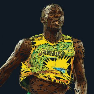 Abstractified Usain Bolt