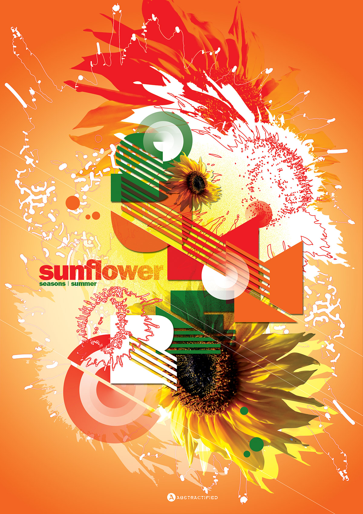 Abstractified Summer Sunflower