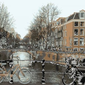 Abstractified Amsterdam