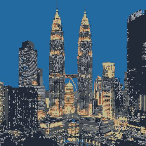 Abstractified Kuala Lumpur